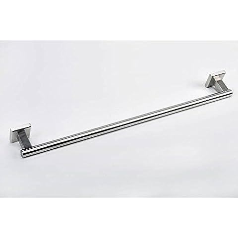 QUEEN'S Bagno contemporaneo 304 accessori in acciaio inox spazzolato singola barra portasalviette Piedistallo quadrato asciugamano da bagno bar,Home Bagno Decorazione Essentials