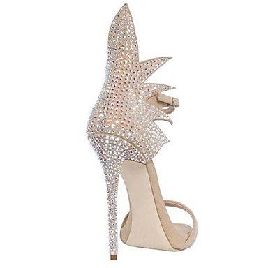 Enochx Donna Sandali Primavera Estate Autunno Novità Comfort Suede party di nozze & abito da sera Stiletto Heel fibbia a piedi beige
