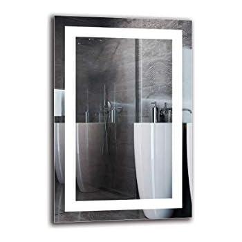 Lichtspiegel Wandspiegel LED Spiegel Premium Spiegelma/ßen 40x40 cm ARTTOR Fertig zum Aufh/ängen Lichtfarbe Wei/ß kalt 6500K ARTTOR M1ZP-52-40x40 Badspiegel mit LED Beleuchtung