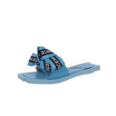 zhENfu Donna pantofole & flip-flops Comfort estivo in PVC informale comfort arrossendo Rosa Blu Piatto bianco Blue