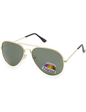Unisex Stile pilota Occhiali Da Sole polarizzata Uomo Dona rispecchiata Sunglasses Sport Protezione UV MFAZ Morefaz...
