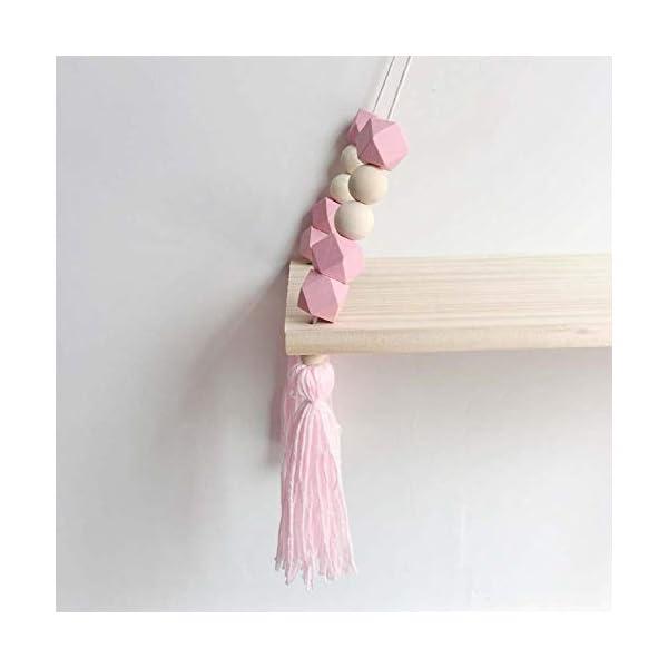 mallalah tag re murale nordique enfant copine princesse style d corative suspendue bois tassel. Black Bedroom Furniture Sets. Home Design Ideas