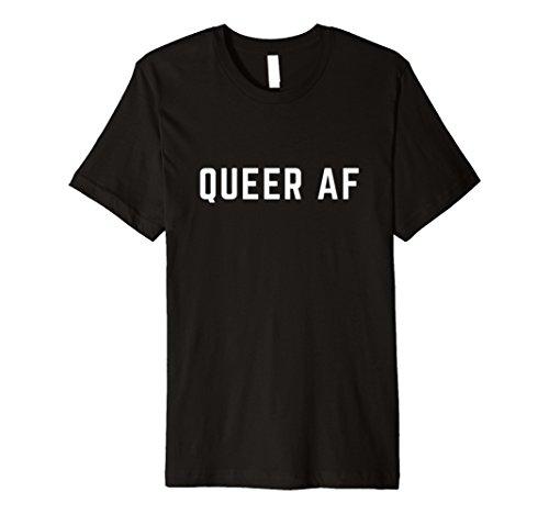 Queer AF T-Shirt, Homosexuell und Lesben Stolz, Genderfluid -