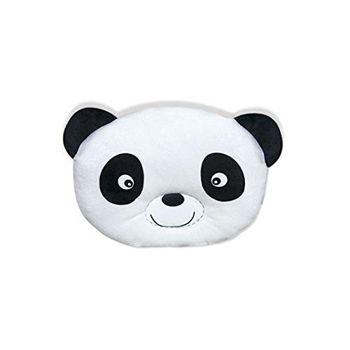 Kenmont mignonne bébé Oreiller de maintien de la tête animal Coussin de maintien anti-tête plate Oreillers memoire oreiller de sommeil (28x24cm, Panda bébé)