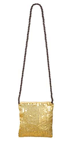 Karneval-Klamotten Pailletten-Tasche Gold Charleston Tasche Glitzer Tasche Pailletten 20er 30er Jahre Tasche Fasching Karneval
