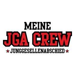 T-Shirt für den Junggesellinnenabschied mit dem Motiv Meine Jga Crew Weiß
