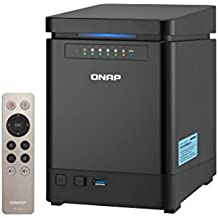 """QNAP TS-453Bmini NAS Torre Ethernet Negro - Unidad RAID (Unidad de disco duro, SSD, Serial ATA III, 2.5/3.5"""", 0, 1, 5, 6, JBOD, FAT32,HFS+,NTFS,ext3,ext4, Intel® Celeron®)"""
