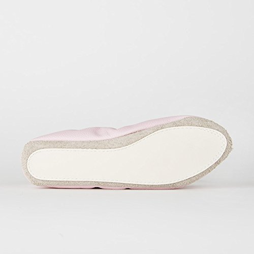 Rumpf 1031 Ballett Gymnastik Sport Fitness Schläppchen Leder Kombisohle Pink