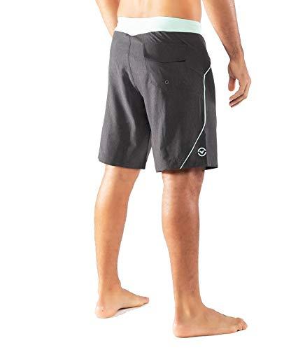 Virus-ST12-Bantam-Boardshort-Shorts-Charcoal-HeatherMint