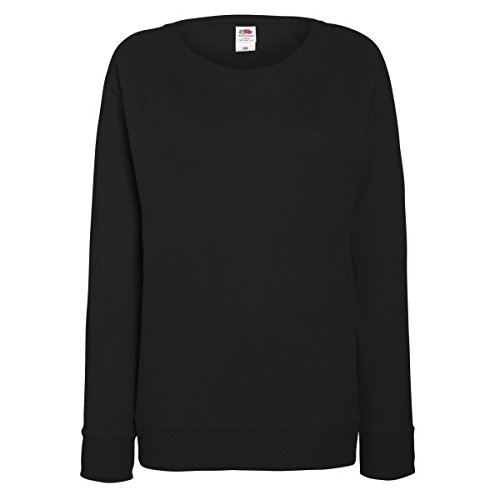 Fruit of the Loom Lightweight Raglan Sweat Lady-Fit - Farbe: Black - Größe: M