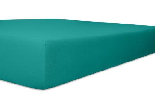 Kneer 6001428 Single Jersey Spannbetttuch Qualität 60, Größe 140/200 bis 160/200 cm, Petrol