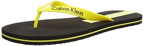 Calvin Klein Infradito, Uomo, Giallo (BLACK/BLAZING YELLOW CL3), 41/42 (Taglia produttore: M)