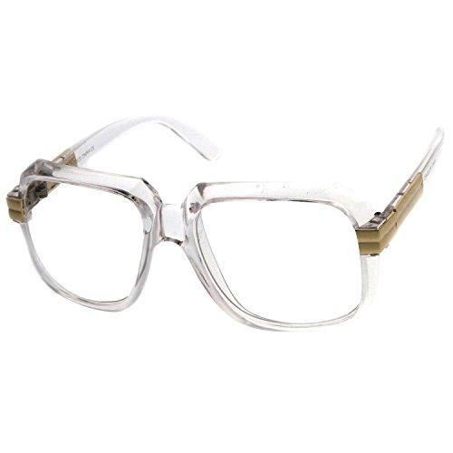 Kiss Brillen in neutralen mod. OLD SCHOOL Classic - HIP-HOP optischen rahmen VINTAGE mann frau - CRYSTAL