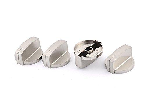 Herd Range-schalter (tfxwerws Nützliche Metall Herd Backofen Herd Hitze Fire Einstellknopf Range Schalter Knopf, (4Stück))