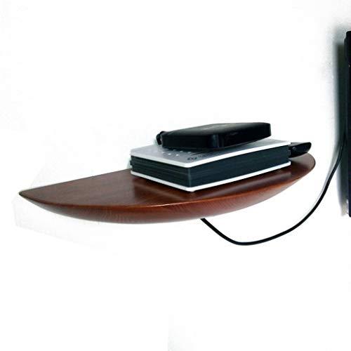 Etagère TV murale en bois massif chambre à coucher Étagère murale de salon Étagère flottante Set top box routeur photo Étagère à jouets meuble TV Panneau de télévision (Couleur : A)
