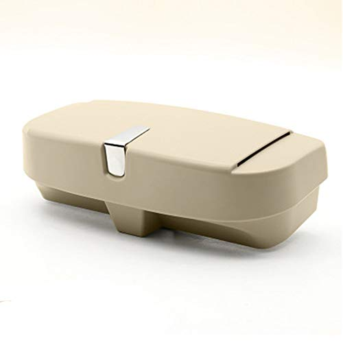Auto Sonnenblende Brillenetui Sonnenbrille Halter Clip Boxcar Sonnenbrille Organizer-Beige -