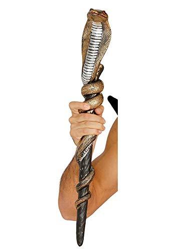 MAGICBOX Scettro del Bastone del Mago del Serpente d'oro Cobra