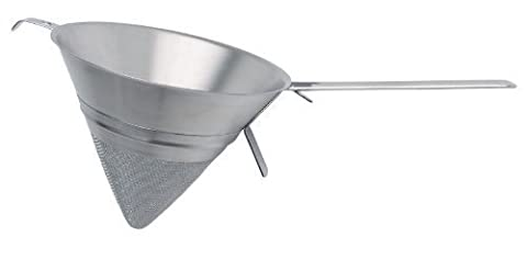 KitchenCraft MasterClass Stainless Steel Fine-Mesh Conical Sieve / Chinois, 20 cm