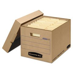 Filing Storage Box with Locking Lid, Letter/Legal, Kraft, 25/Carton, Sold as 1 Carton