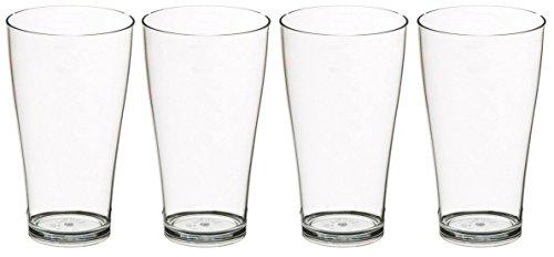 Set 4x Trinkgläser Biergläser 500ml Polycarbonat Kunststoff bruchsicher Polycarbonat Drinkware