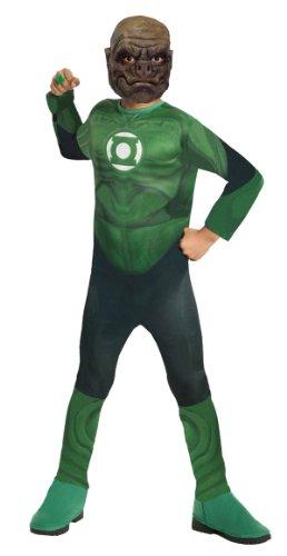 Lantern-Kilowog Kinderkost-m Gr--e: mittel (Green Lantern Ring Und Maske)