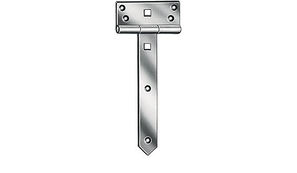 Croix Penture anglaise 28,5/x 8,5/cm 2/mm charni/ères en T de charni/ère porte bande Meubles Charni/ère galvanis/é