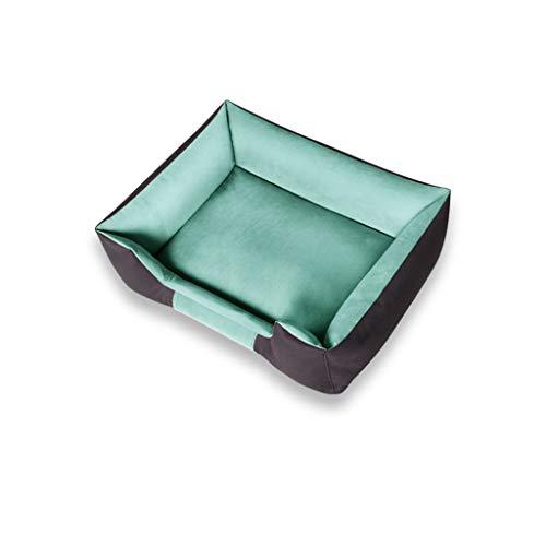 JXLBB Hundehütte Biss-resistente Winter Schlafsack Heimtierbedarf Sofa Hund Matratze Katzenstreu Winter Warm Pet Sofa Durchmesser Geeignet für Haustiere unter 10Kg (Color : Green)