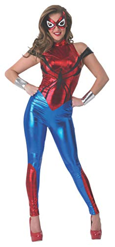 Rubie 's Offizielles Damen Marvel Spider-Girl Catsuit, Erwachsenen-Kostüm - Medium UK 12-14