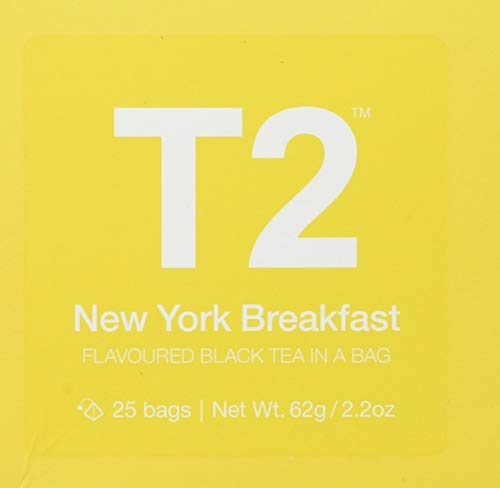 T2 Tea New York Breakfast Black Tea, Cube (25 Tea Bags) in Box 62 g