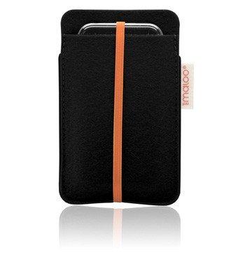 RedMaloo Filz Tasche Sleeve Schwarz für iPhone 4/ 4S und iPod Touch