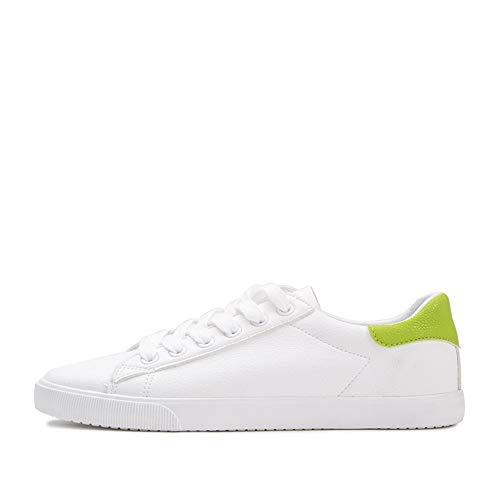 YIWU White Board Schuhe Frauen Street Fotos Kleine Weiße Schuhe Herbst 2018 Joker Student Freizeit Schuhe Sneaker (Farbe : 07 Green, Size : EU38/UK5.5/CN38) 07 Sneakers