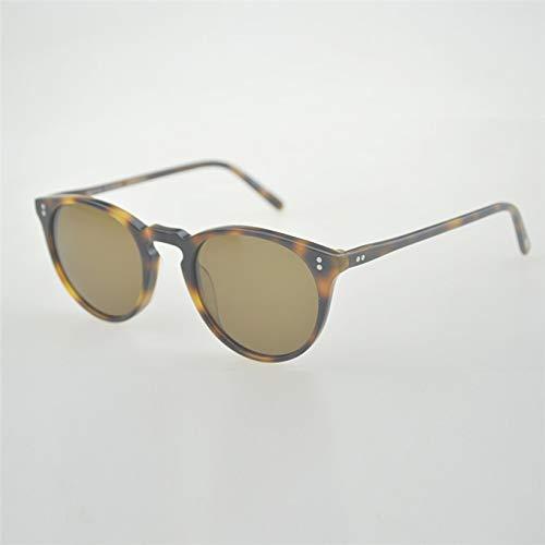 LKVNHP Hochwertige Unisex Klassische Sonnenbrille Marke Polarisierte Sonnenbrille Männer Frauen Männliche Sonnenbrille Oculos De SolVs Braun