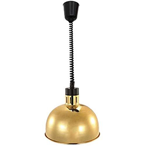 Dear-jy lampada calore alimentare,lampada per scaldavivande lampada,lampada riscaldante per alimenti commerciale a sospensione retrattile,lunghezza regolabile 60-180 cm,cucina e dell'hotel,d'oro