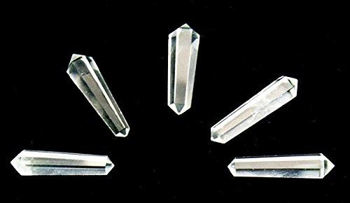 Quarz Kristall Vogel-Stil doppelte beendet Punkte Zauberstab, 35-40mm Chunky (Kristall Quarz Vogel)