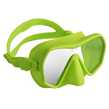 SEAC Unisex's Touch, Frameless Low Volume Mask for Underwater Diving, Colored Silicone, Green, standard