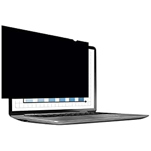 Fellowes PrivaScreen Anti Glare Privacy Filter and Screen Protector for Laptop, 15.6 Inches 16:9 Widescreen - Easy Attach and Removal with Quick Reveal Tabs, Black