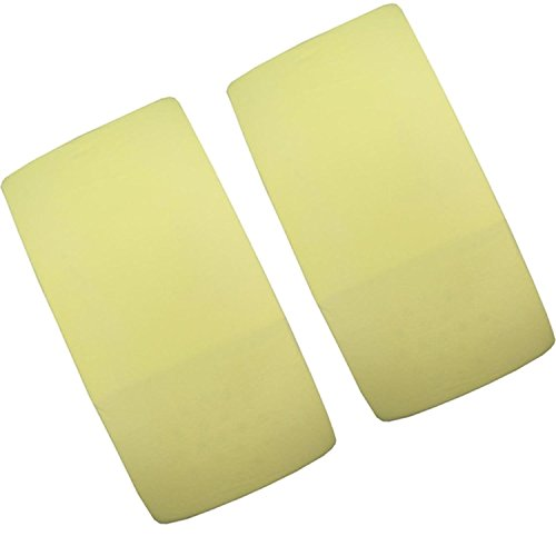2x cuna Jersey Sábana Bajera ajustable 100% algodón 120cm x 60cm color amarillo yellow-by For-your-Little-One