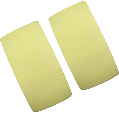 2 Sábana Bajera amarillas ajustable para cuna, 100% algodón