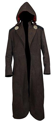 Trench Leder (Zouq Fashions Fantastic Four DR DOOM Trench Coat aus Leder Gr. XXX-Large, braun)