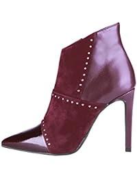 Versace 1969 - Zapatos de Vestir de 100% Piel para Mujer Rojo Red