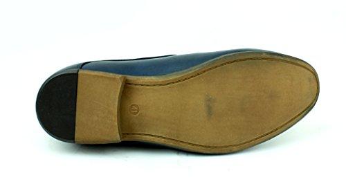 Hommes Neuve Mocassins Décontracté mocassins élégant formel Office chaussures taille Royaume-Uni Bleu