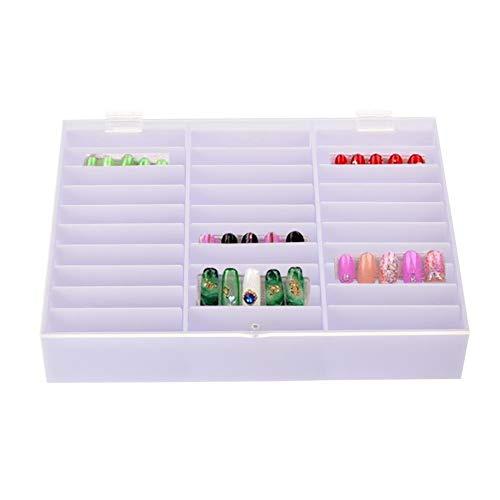 iBaste Acryl Nagel Aufbewahrungsbox Einstellbar Nails Farbkarten Display Box zur Präsentation und Aufbewahrung von Nailart Strass Piercing UVM (Acryl-box)