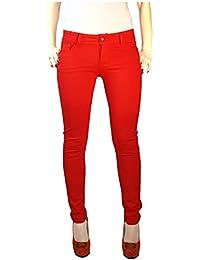 Rote jeans damen