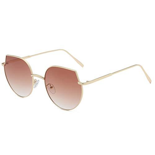 FeiliandaJJ Klassisch Metall Sonnenbrille Damen Herren Großer Rahmen Brillenfassungen, Mode Vintage Sonnenbrille Retro Unisex Sunglasses (D)