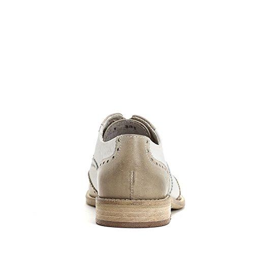 MARINA SEVAL by Scarpe&Scarpe - Zweifarbige Schnürschuhe, Leder, mit Absätzen 2 cm MULTICOLOR (BEIGE/BIANCO)