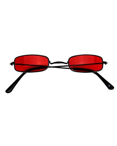 Horror-Shop Vampirbrille mit roten Gläsern als Kostümzubehör (Blade Vampir Kostüm)