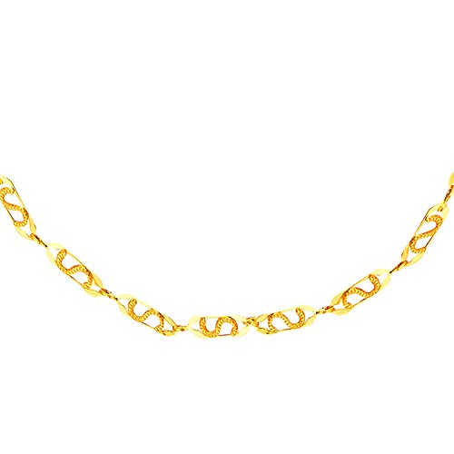 Shining Jewel 24K Gold Link Chain For Men And Women