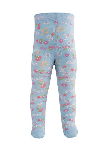 Ewers Baby- und Kinderstrumpfhose für Mädchen Blumen, Made in Europe, Strumpfhose Baumwolle (Jacke Mädchen Moto)