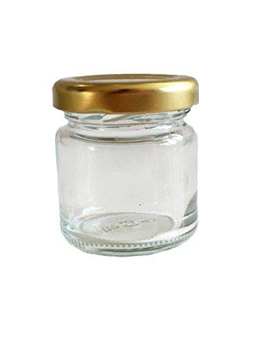 läser Mini Gläser 53 ml Deckelfarbe Gold To 43 Sturzgläser Kaviar Marmeladengläser Obstgläser Einweckgläser Senf Honig Gläser, Einmachgläser, Portionsgläser Probiergläser ()