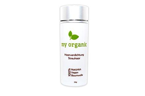 my organic HAARVERDICHTUNG STREUHAAR SCHÜTTHAAR 100% NATÜRLICH & VEGAN - 26g - Soforteffekt gegen Teilglatze und lichtes Haar (SCHWARZ)